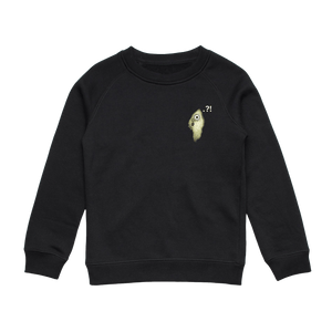 Hooya   Kid's Minimal Fleece Sweatshirt in Black / XXL by Enpei Ito
