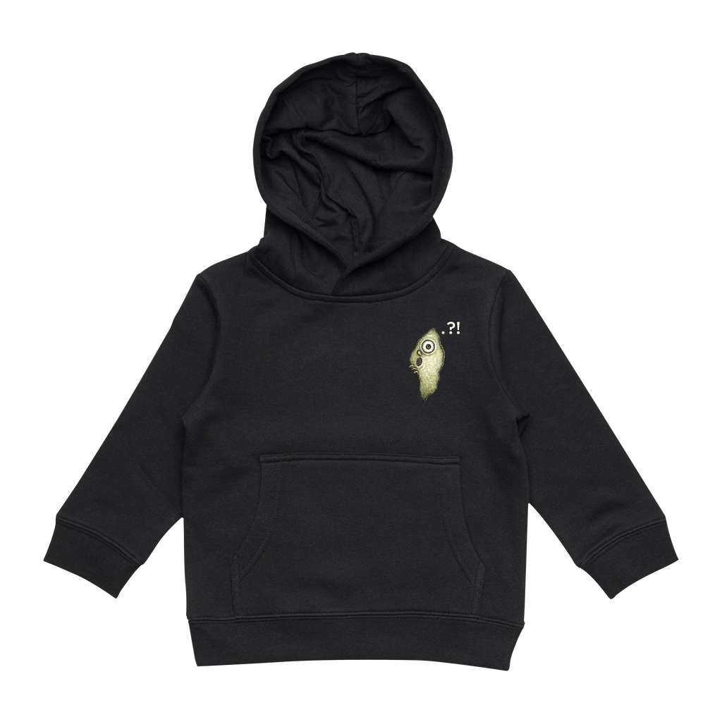 Hooya   Kid's Minimal Fleece Hoodie in Black / XXL by Enpei Ito