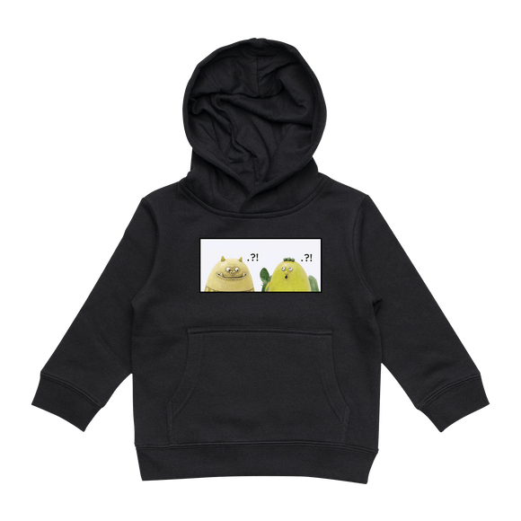 Miiya And Hooya   Kid's Minimal Fleece Hoodie in Black / XXL by Enpei Ito