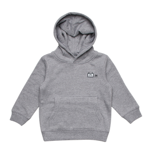 Miiya   Kid's Minimal Fleece Hoodie in Grey / XXL by Enpei Ito