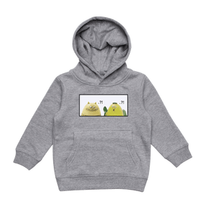 Miiya And Hooya   Kid's Minimal Fleece Hoodie in Grey / XXL by Enpei Ito