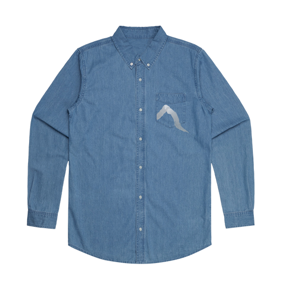 Blue Songs   Men's 100% Cotton Denim Shirt in XXL by Yuuna Okanishi