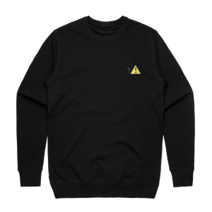 Caution   Men's 100% Cotton Embroidered Sweatshirt in Black / XXL by Michael Pederson