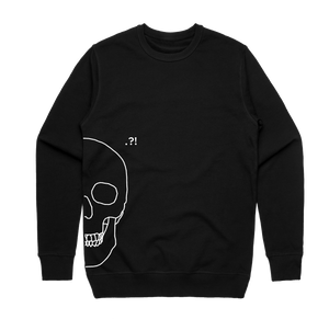 Skull   Men's 100% Cotton Minimal Sweatshirt in Black / XXL by Buff Diss