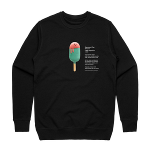 Cake Popsicle 01   Men's 100% Cotton Gallery Sweatshirt in Black / XXL by Raymond Tan