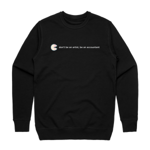 The Unfortunate Cookie 02   Men's 100% Cotton Sweatshirt in Black / XXL by Raymond Tan