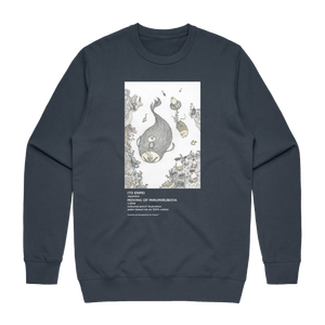 Moving Of Mirumiruboya   Men's 100% Cotton Gallery Sweatshirt in Air Force Blue / XXL by Enpei Ito