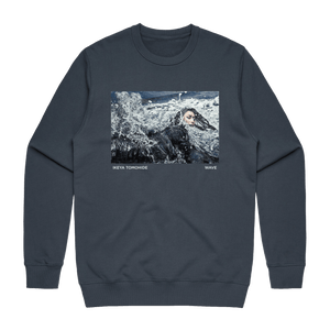 Wave   Men's 100% Cotton Gallery Sweatshirt in Air Force Blue / XXL by Ikeya Tomohide