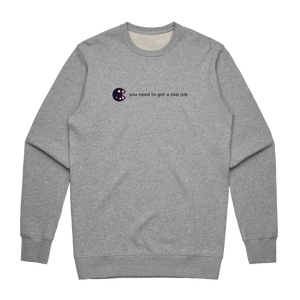The Unfortunate Cookie 04   Men's 100% Cotton Sweatshirt in Grey / XXL by Raymond Tan
