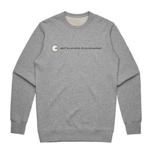 The Unfortunate Cookie 02   Men's 100% Cotton Sweatshirt in Grey / XXL by Raymond Tan