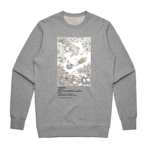The Vast Undersea World   Men's 100% Cotton Minimal Sweatshirt in Grey / XXL by Enpei Ito