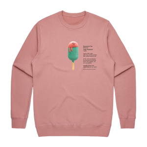 Cake Popsicle 01   Men's 100% Cotton Gallery Sweatshirt in Rose / XXL by Raymond Tan
