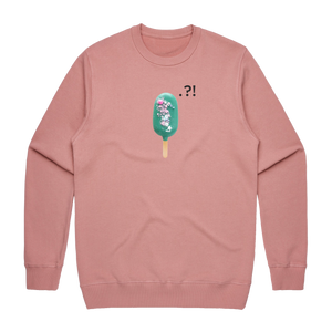 Cake Popsicle 04   Men's 100% Cotton Minimal Sweatshirt in Rose / XXL by Raymond Tan