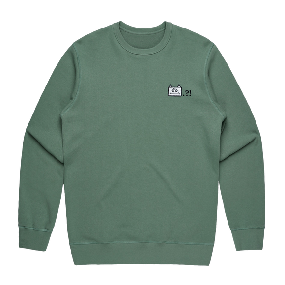 Miiya   Men's 100% Cotton Embroidered Sweatshirt in Sage / XXL by Enpei Ito