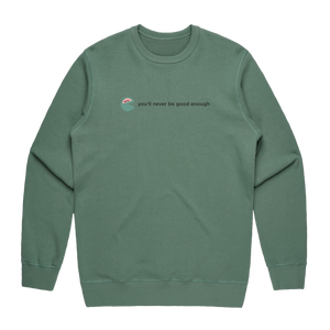 The Unfortunate Cookie 01   Men's 100% Cotton Sweatshirt in Sage / XXL by Raymond Tan