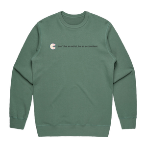 The Unfortunate Cookie 02   Men's 100% Cotton Sweatshirt in Sage / XXL by Raymond Tan