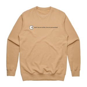 The Unfortunate Cookie 02   Men's 100% Cotton Sweatshirt in Tan / XXL by Raymond Tan
