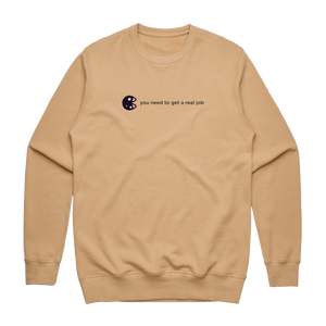The Unfortunate Cookie 04   Men's 100% Cotton Sweatshirt in Tan / XXL by Raymond Tan