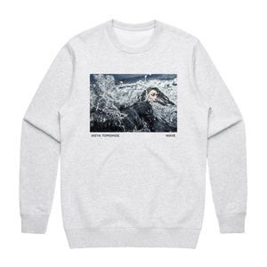 Wave   Men's 100% Cotton Gallery Sweatshirt in Marble White / XXL by Ikeya Tomohide