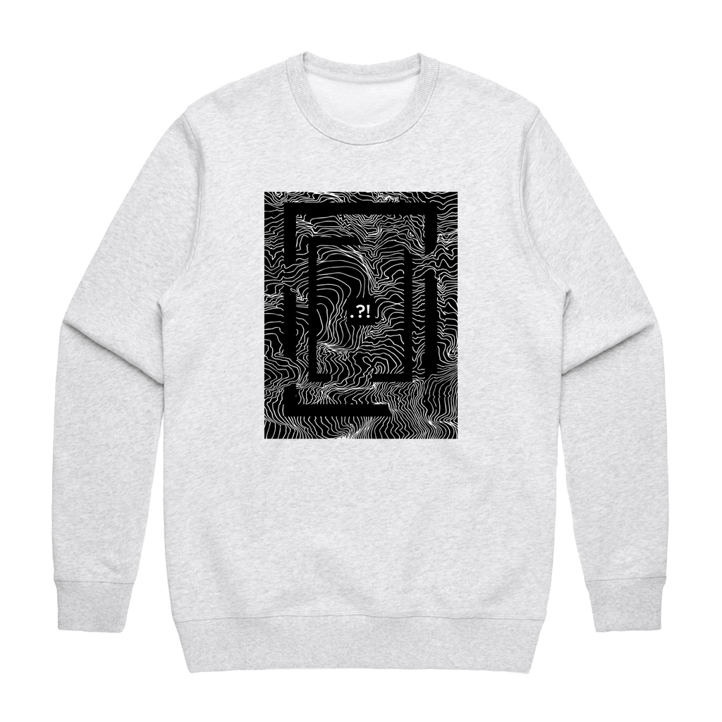 Square   Men's 100% Cotton Minimal Sweatshirt in Marble White / XXL by Buff Diss