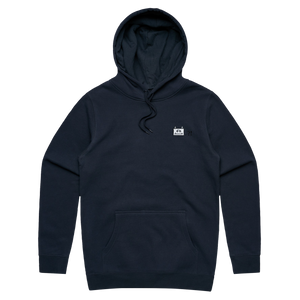 Miiya   Unisex Minimal Fleece Hoodie in Navy / XXL by Enpei Ito