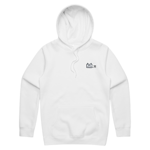 Miiya   Unisex Minimal Fleece Hoodie in White / XS by Enpei Ito