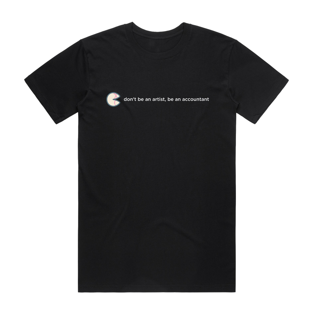 The Unfortunate Cookie 02   Men's 100% Organic Cotton T-shirt in Black / XXL by Raymond Tan