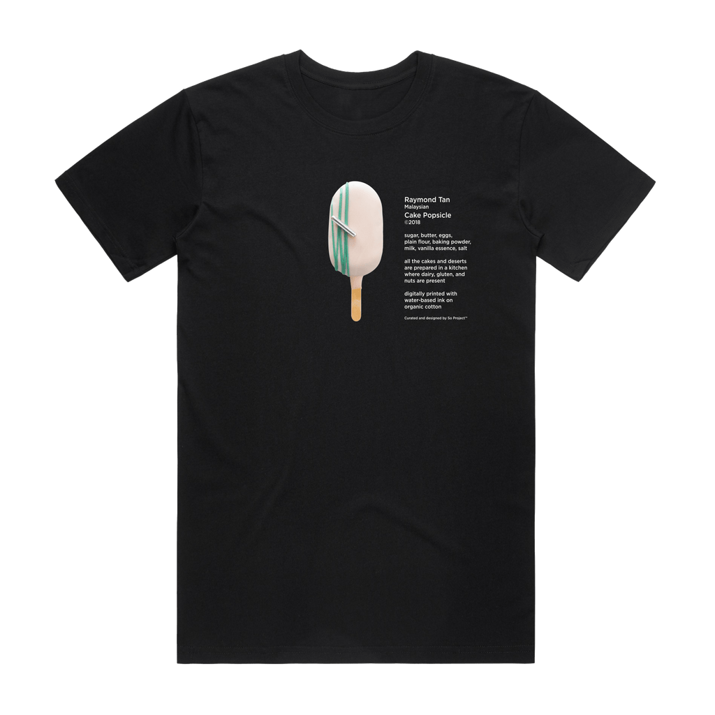 Cake Popsicle 06   Men's 100% Organic Cotton Gallery T-shirt in Black / XXL by Raymond Tan