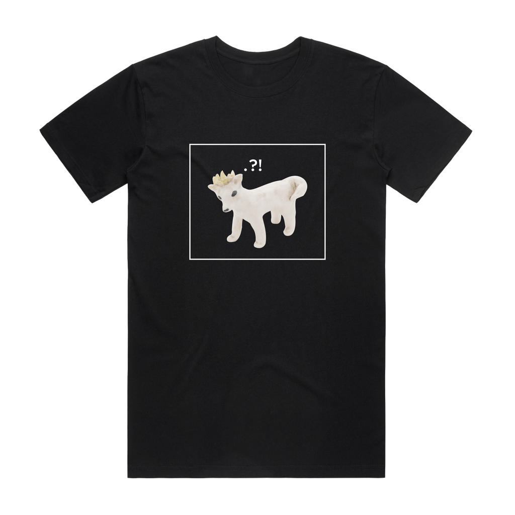Dog With A Crown   Men's 100% Organic Cotton Minimal T-shirt in Black / XXL by erinswindow