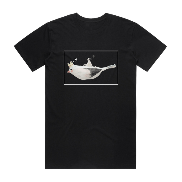 Bird Rider 01   Men's 100% Organic Cotton Minimal T-shirt in Black / XXL by erinswindow
