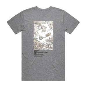 The Vast Undersea World   Men's 100% Organic Cotton Minimal T-shirt in Grey / XXL by Enpei Ito