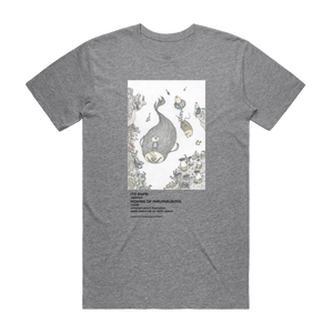 Moving Of Mirumiruboya   Men's 100% Organic Cotton Gallery T-shirt in Grey / XXL by Enpei Ito