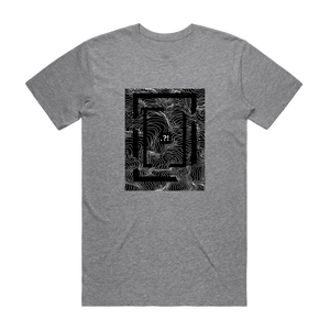 Square   Men's 100% Organic Cotton Minimal T-shirt in Grey / XXL by Buff Diss