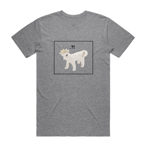 Dog With A Crown   Men's 100% Organic Cotton Minimal T-shirt in Grey / XXL by erinswindow