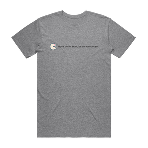 The Unfortunate Cookie 02   Men's 100% Organic Cotton T-shirt in Grey / XXL by Raymond Tan