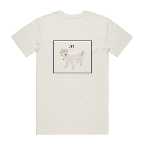 Dog With A Crown   Men's 100% Organic Cotton Minimal T-shirt in Natural / XXL by erinswindow