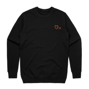 Lover   Men's 100% Cotton Embroidered Sweatshirt in Black / XXL by Paul Turner