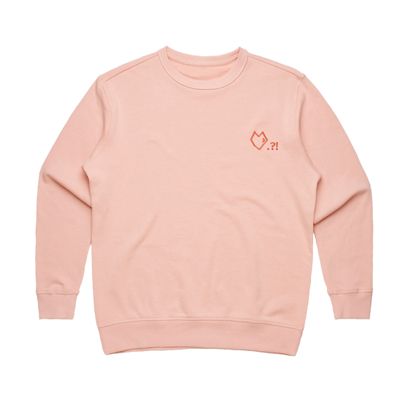 Lover   Women's 100% Cotton Embroidered Sweatshirt in Pale Pink / XL by Paul Turner