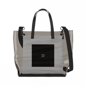 Art   Clear Tote Bag in Dark / Cream by So Project™