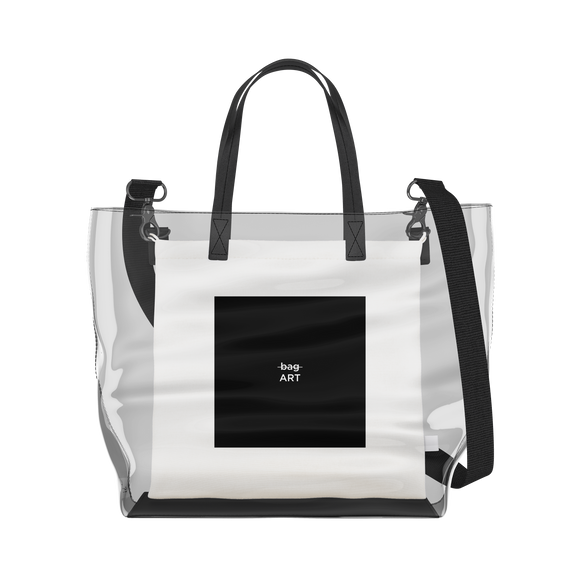 Art   Clear Tote Bag in Clear / Cream by So Project™