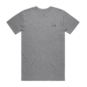 Cake Popsicle   Men's 100% Organic Cotton Embroidered T-shirt in Grey / XXL by Raymond Tan