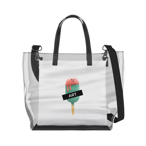 Watermelon Popsicle   Clear Tote Bag in Clear / Cream by Raymond Tan