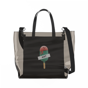 Watermelon Popsicle   Clear Tote Bag in Dark / Black by Raymond Tan