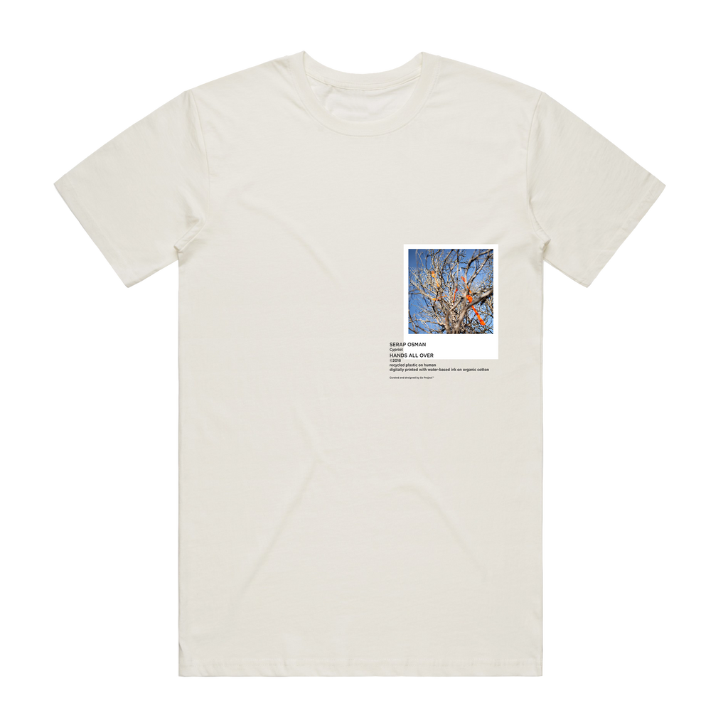 Hands All Over 02   Men's 100% Organic Cotton Gallery T-shirt in Natural / XXL by Serap Osman
