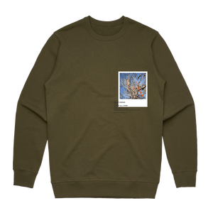 Hands All Over 02   Men's 100% Cotton Gallery Sweatshirt in Army Green / XXL by Serap Osman