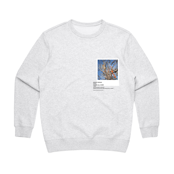 Hands All Over 02   Women's 100% Cotton Gallery Sweatshirt in Marble White / XL by Serap Osman