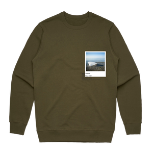Hands All Over 05   Men's 100% Cotton Gallery Sweatshirt in Army Green / XXL by Serap Osman