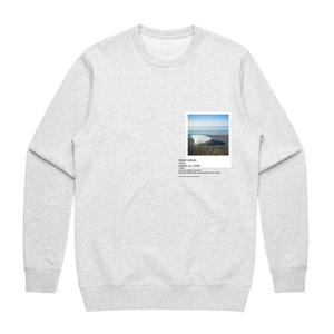 Hands All Over 05   Men's 100% Cotton Gallery Sweatshirt in Marble White / XXL by Serap Osman