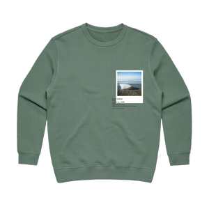 Hands All Over 05   Women's 100% Cotton Gallery Sweatshirt in Sage / XL by Serap Osman