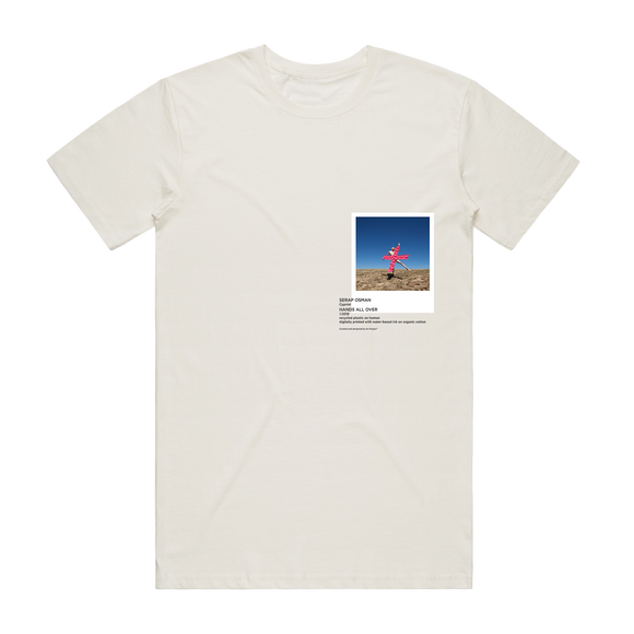 Hands All Over 07   Men's 100% Organic Cotton Gallery T-shirt in Natural / XXL by Serap Osman